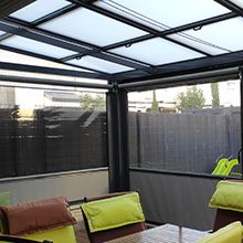 Foto de techo movil instalado por toldos narcea